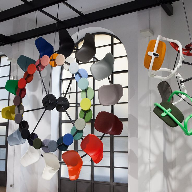 Vitra's installation of Eames chairs at the Milan Furniture Fair