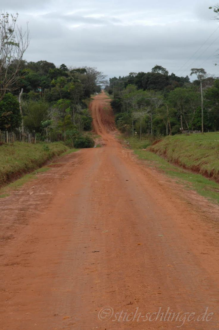 Paraguay-the red roads of Paraguay---someday I hope to walk them again.