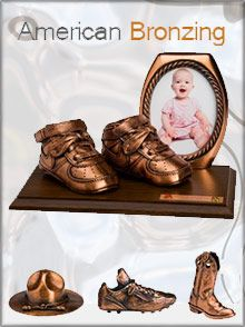 Remember these?! Retro & timeless bronzed keepsakes from bronze baby shoes to baseballs
