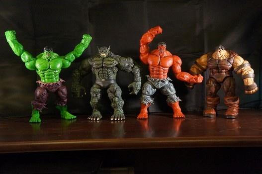 Red Hulk Vs Trion Juggernaut: Diamond Select Toys Action Figures Hulk, Abomination, Red