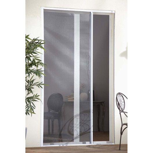Moustiquaire porte-fenêtre ARTENS à enroulement latéral, 250x100 cm