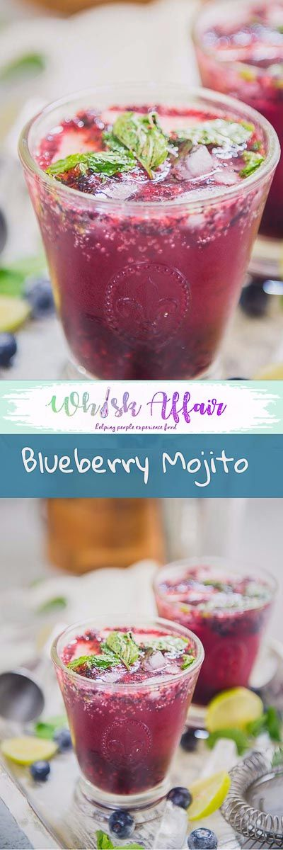 BLUEBERRY MOJITO Hustling at home and work? A sip of refreshing Blueberry Mojito will take all your stress away. Mix it up, soon and sip it like a royal! #Blueberry #Mojito #Drink #Alcoholic #Cocktail #Homemade #Beverage #Party #Summer #Best via @WhiskAffair