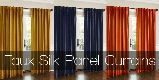 Faux Silk Panel Curtains $16 #giveaway: Color