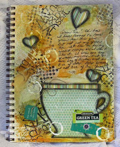 art journaling : cup of tea
