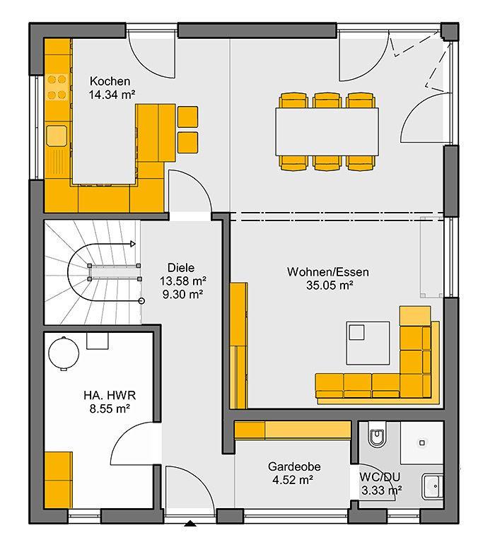 Moderne häuser satteldach grundriss  29 besten Grundriss Bilder auf Pinterest | Haus grundrisse ...
