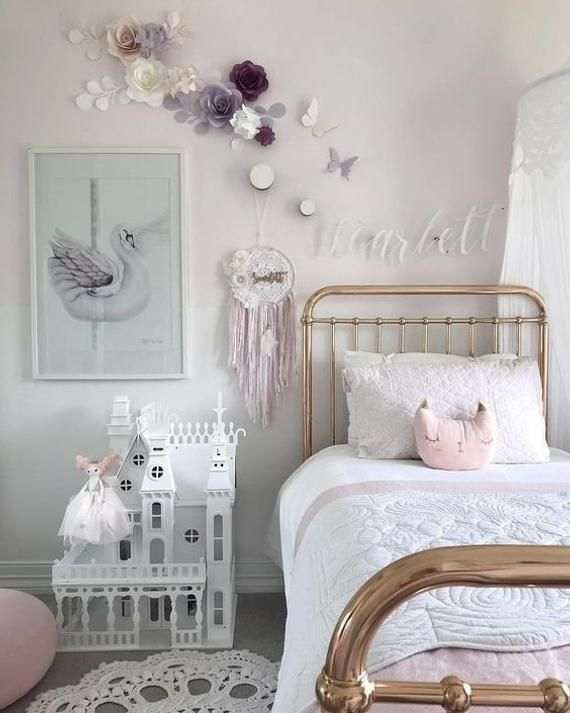 Lilac And Blush Nursery Wall Paper Flowers Paper Flowers Wall