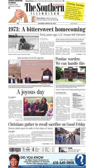 Front page march 30 2013 the southern illinoisan front pages