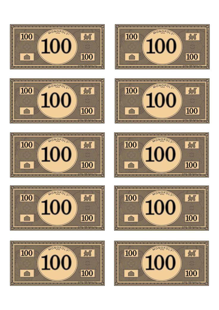 monopoly money 100 budget pinterest monopoly money monopoly