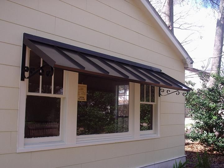 Metal Awnings For Home | METAL AWNING - Bronze with the Double S Scroll