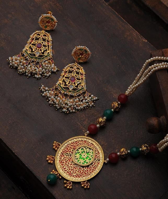 7de49a157a2ca Buy Jewels Of Royalty AJ Creations and Maisara Glittering gold tone ...