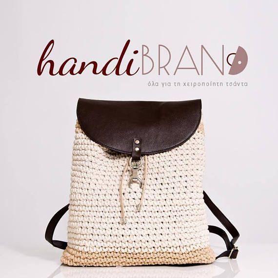 DIY Crochet Backpack kit handmade crochet bag craft supplies