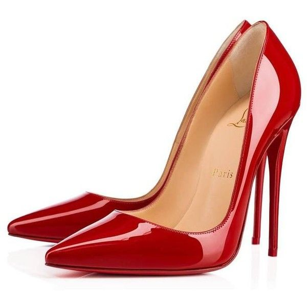 Christian Louboutin New Red Patent Leather So Kate High Heels Pumps in... ($1,340) ❤ liked on Polyvore featuring shoes, pumps, heels, red pumps, heel pump, red patent leather shoes, red patent shoes and high heeled footwear