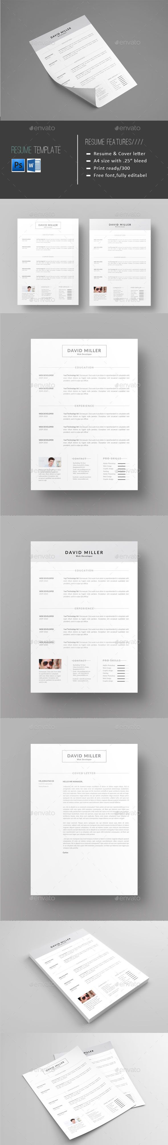 receptionist sample resume%0A Resume Design Template  Resumes Stationery Template PSD  Download here   https