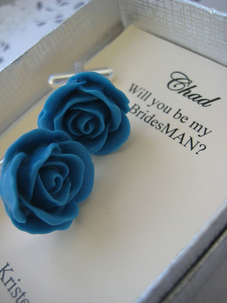 Ask Bridesman, bestman gift. Set cufflinks rose flower. CHOOSE colour