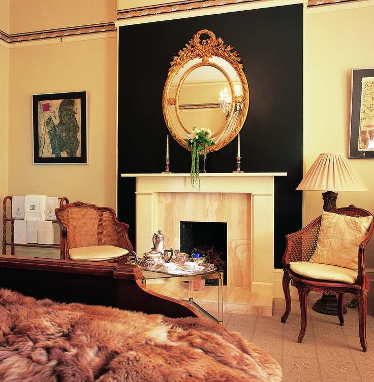 Cotter House, Auckland, Guestroom Fireplace, small luxury hotel.