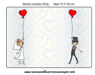 Δωρεάν γάμο μήνα του μέλιτος με μπαλόνια και τις καρδιές εκτυπώσιμη. | Ιδέες και δωρεάν υλικό για πάρτι και γιορτές Ω Κόμμα μου!