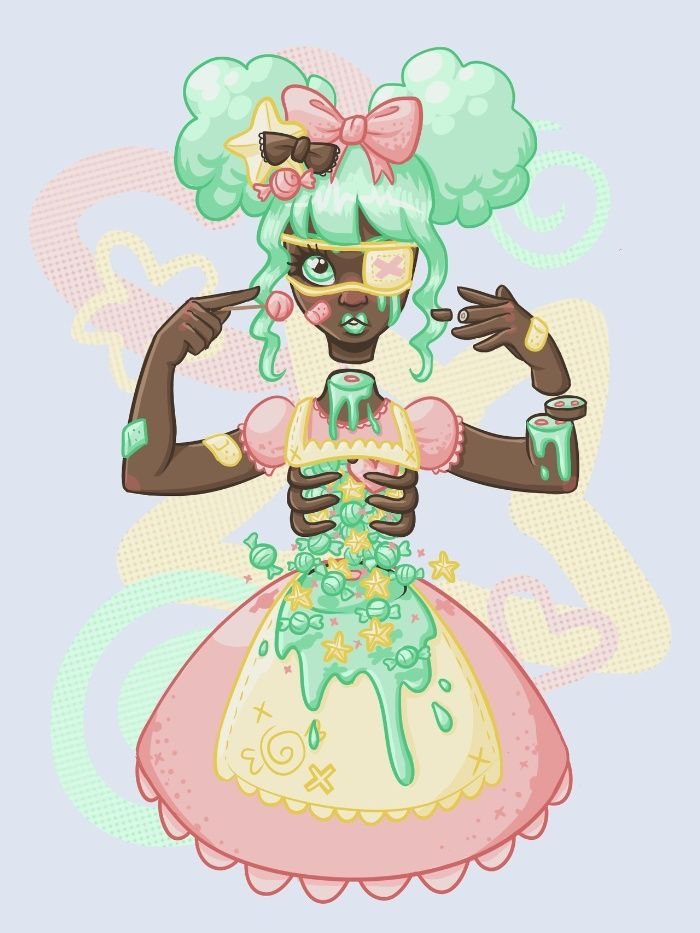 Pastel Candy Gore Art Print by Ash Knight | Society6