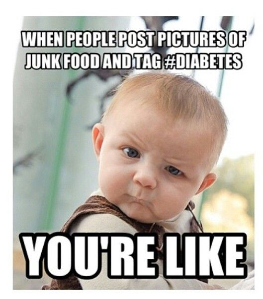 When Non Diabetics Post Pictures Of Junk Food And Do That!!!: