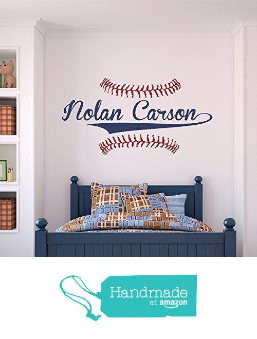 Personalized Name Baseball Wall Decal From Sticky Vinyl Amazon