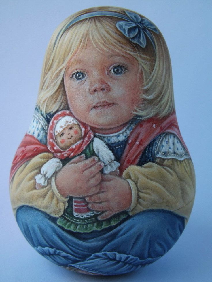 My Author's 1 Kind Russian Roly Poly Nesting Matryoshkas Dolls No Teddy Bears | eBay