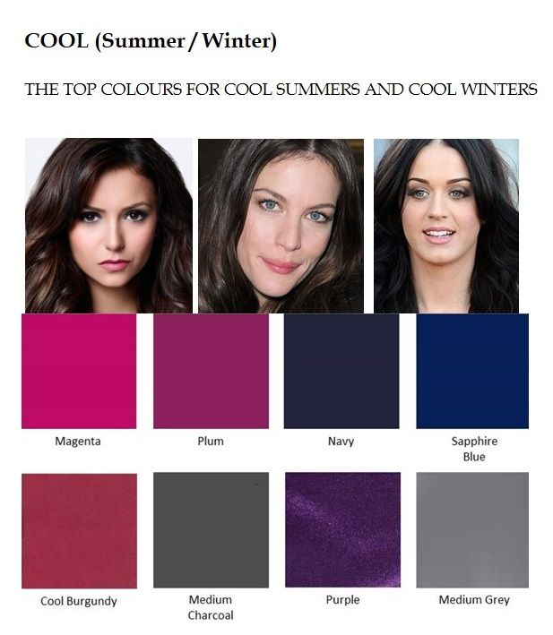 The best colours for Cool Summers and Cool Winters