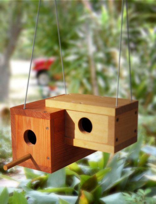 Again idea with boxes and how they are fixed in each other -wooden nest box