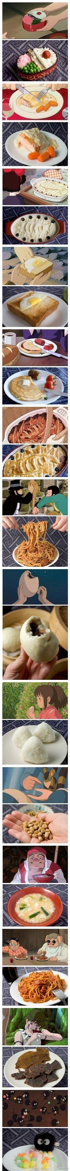 Wonderful #StudioGhibli feast series by Anna the Red! #Miyazaki