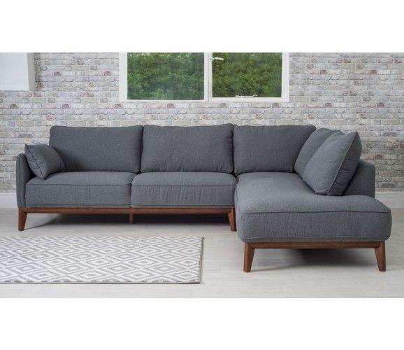 Kendrick Modern Corner Sofa - Dark Grey | living room in 2019 | Grey ...