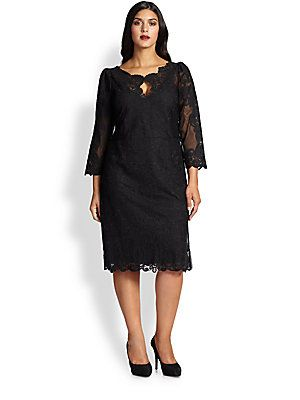 Marina Rinaldi, Sizes 14-24 Dolcezza Tulle Embroidered-Lace Dress