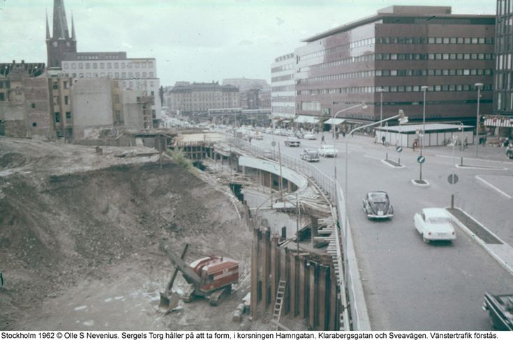 Sergel Torg byggs 1962