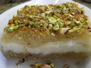 Arabic Food Recipes: Lebanese Knafeh Recipe