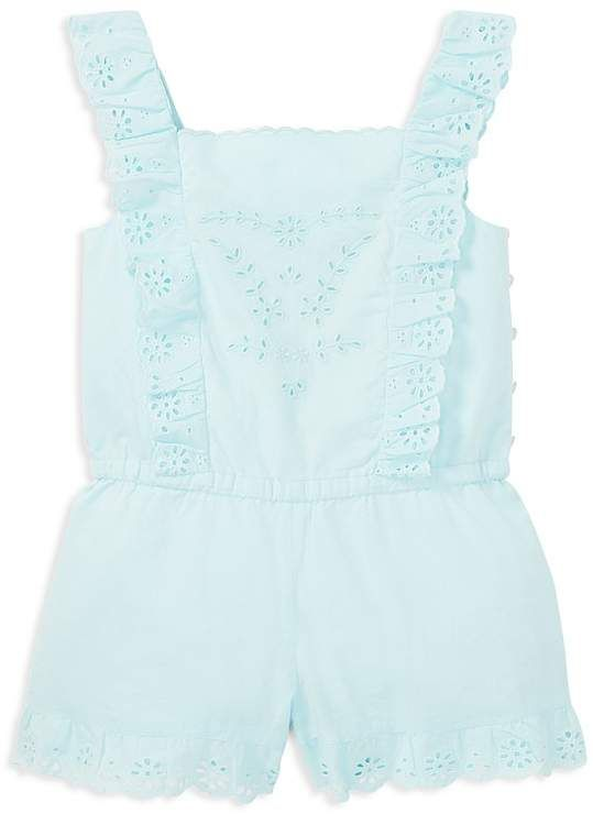868b58f3e Girls' Cotton Eyelet Romper - Little Kid #embroidered#Eyelet#neckline