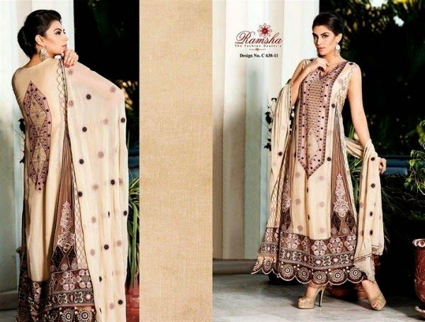 Indian Dresses 2014 and Indian Party Dresses 2014 by Ramsha Zari