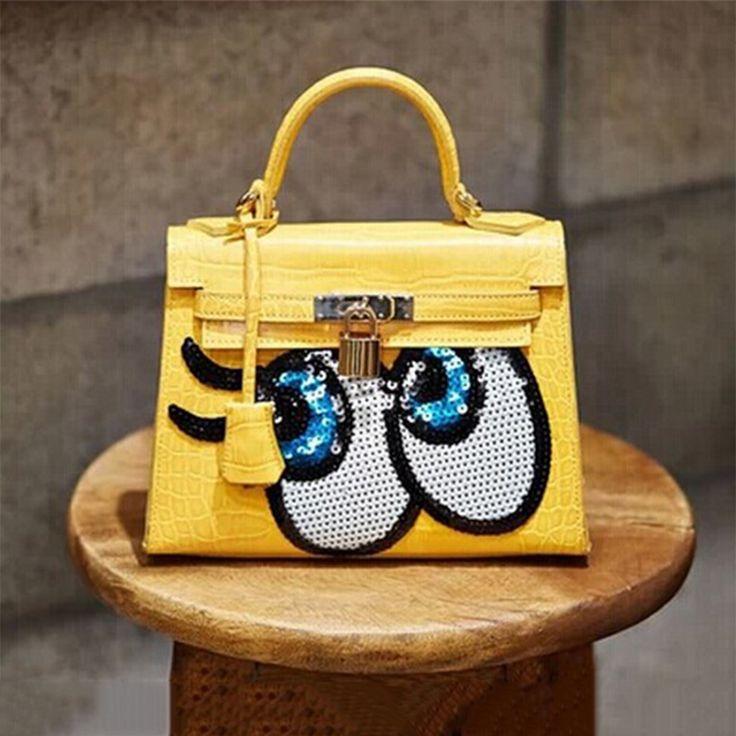 2016 New South Korean women house of Hello adorable thing do SpongeBob SquarePants eyes glitter platinum package