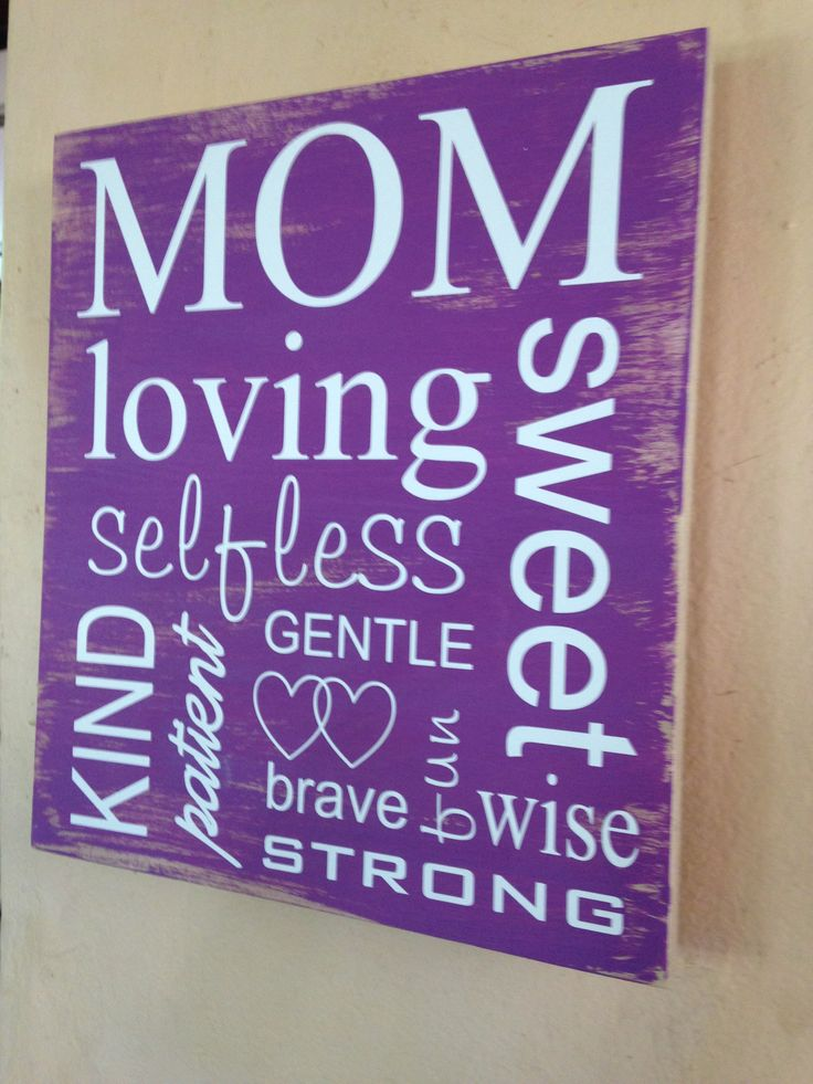 Wooden wall art with special message for mom.  Mother's Day gift.