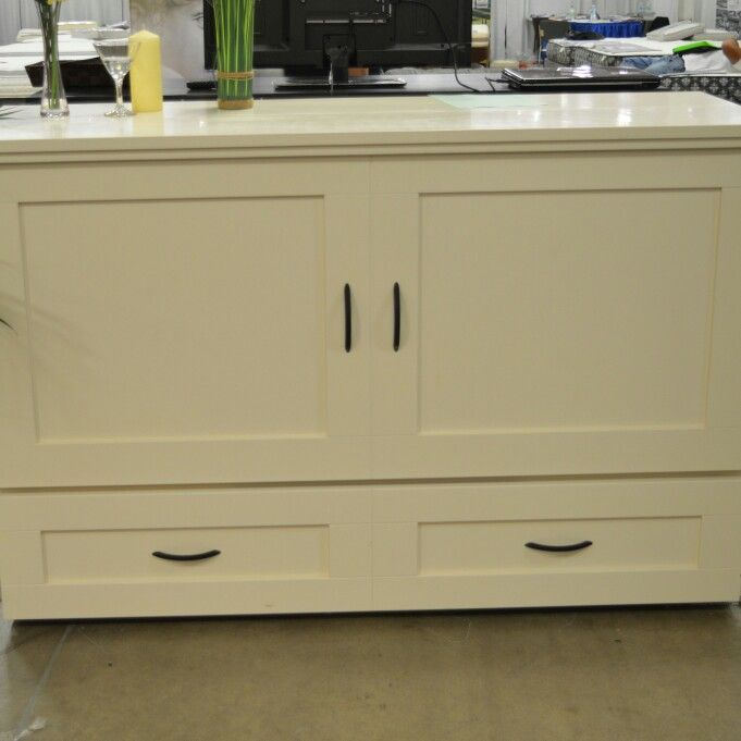 Country Style CabinetBed in Antique White