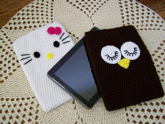 Sale Crochet Tablet Case Crochet ipad sleeve by craftswithlove4U, $31.00