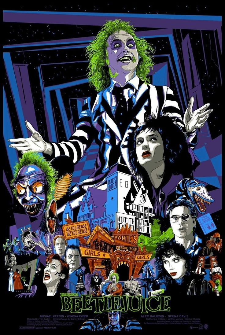 'Beetlejuice' by Vance Kelly. A privately commissioned poster, and unfortunately not for sale.