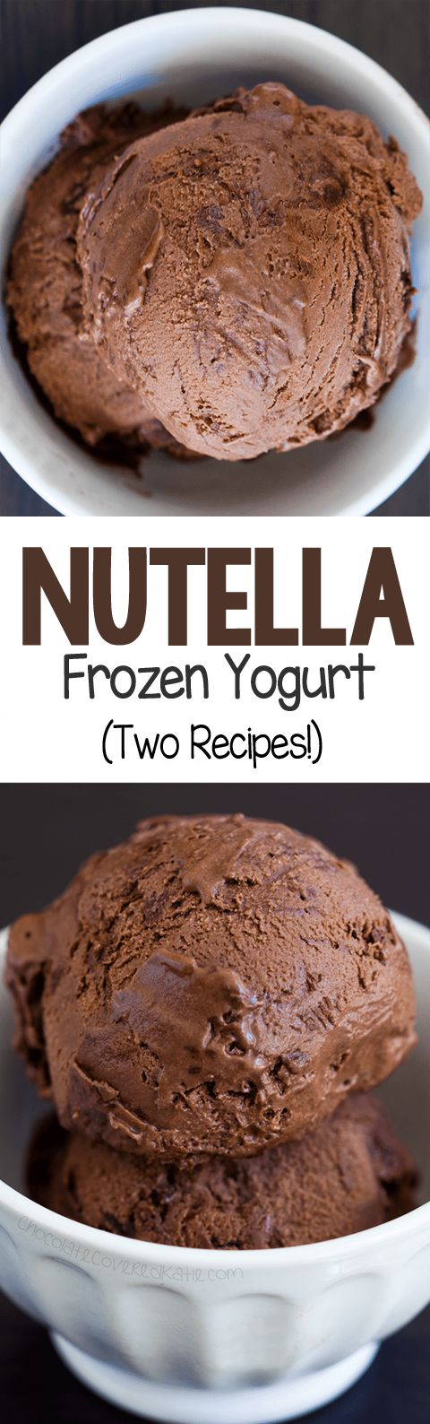 Easy Homemade Nutella Frozen Yogurt!