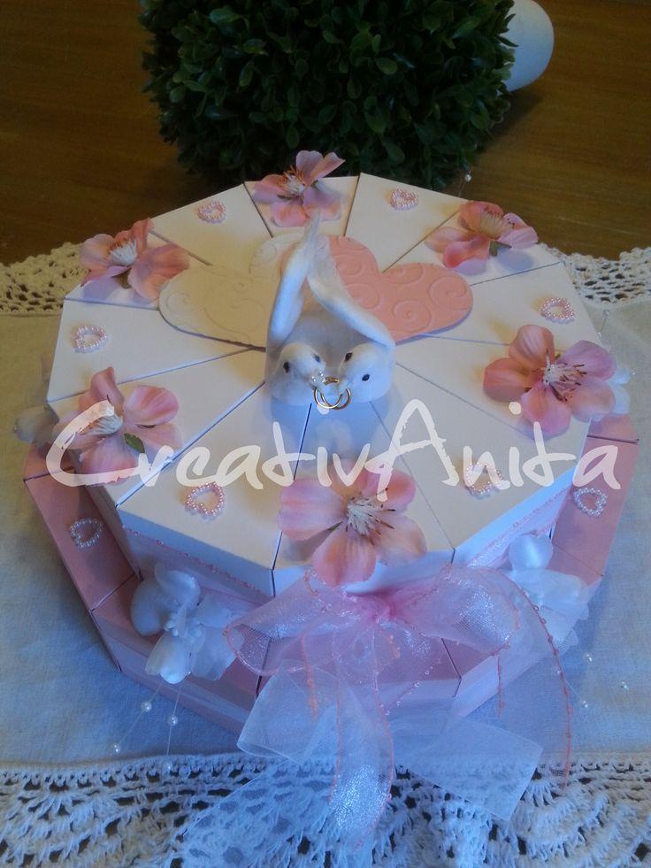 Hochzeitstorte 2-stöckig Rosa-Weiß