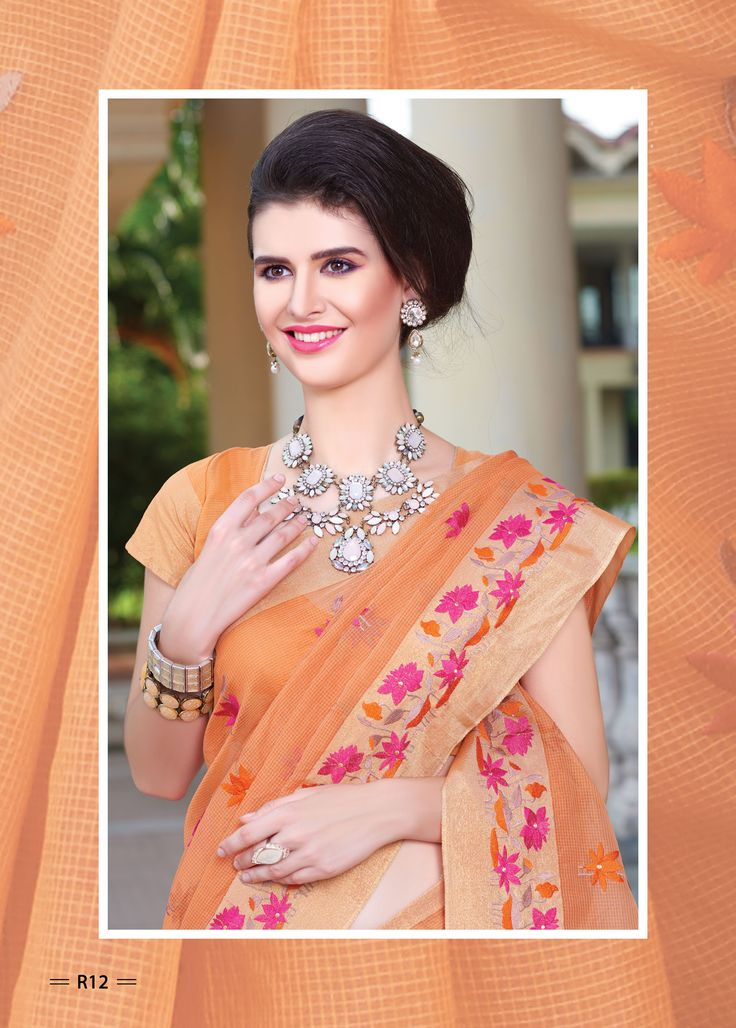 Transcendentally gorgeous is what you will certainly look at your friend's wedding draped in this wondrous from La'ethnic #Fashions. Exquisitely designed by heavy zari embroidery on border & zari buti on all over #saree. This supernet saree is best flaunted with kundan jewellery and stilettos.