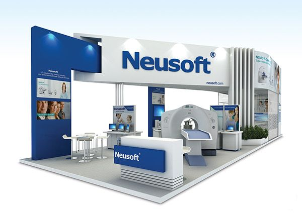 Exhibition Stand Behance : Neusoft at arabhealth on behance exhibition booth