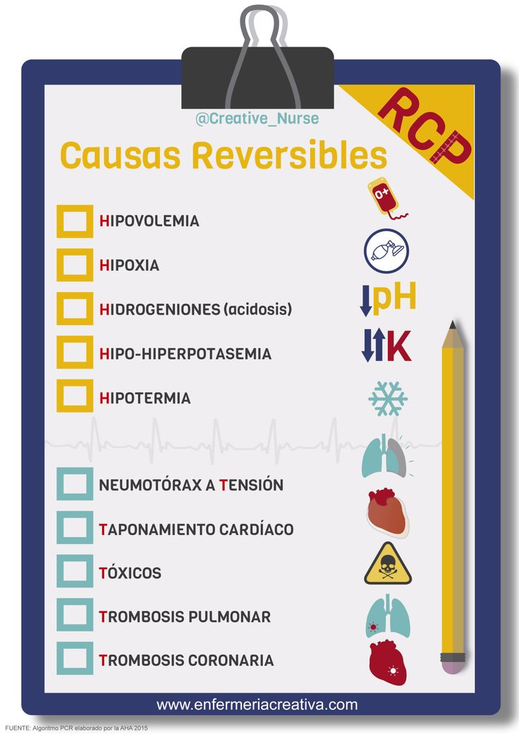 Causas reversibles en PCR_Las 5H y las 5T #enfermeria