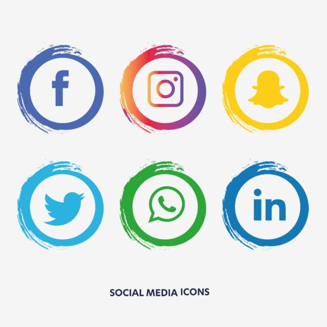 Social Media Icons Set Facebook Facebook Icons Social Icons Media Icons Png And Vector With Transparent Background For Free Download Social Media Icons Media Icon Social Media Logos
