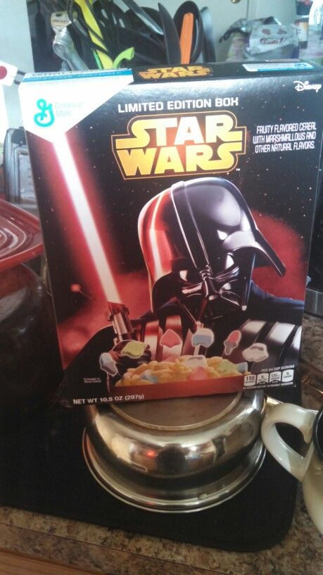 Just knowing that you're eating tie fighters and Yoda marshmallows makes these so much better than lucky charms.