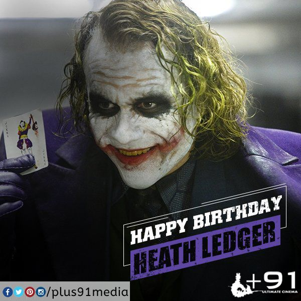 Hbd Heath Ledger Oscar Wins Batman The Dark Knight Heath Ledger