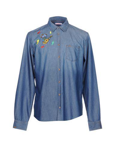 8a6330bee SUN 68 Men's Denim shirt Blue XXL INT | Products | Denim shirt men ...
