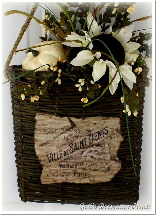 Fall Wreaths and a Hanging Door Basket & 149 best WREATHS u0026 BASKETS images on Pinterest   Floral ... pezcame.com