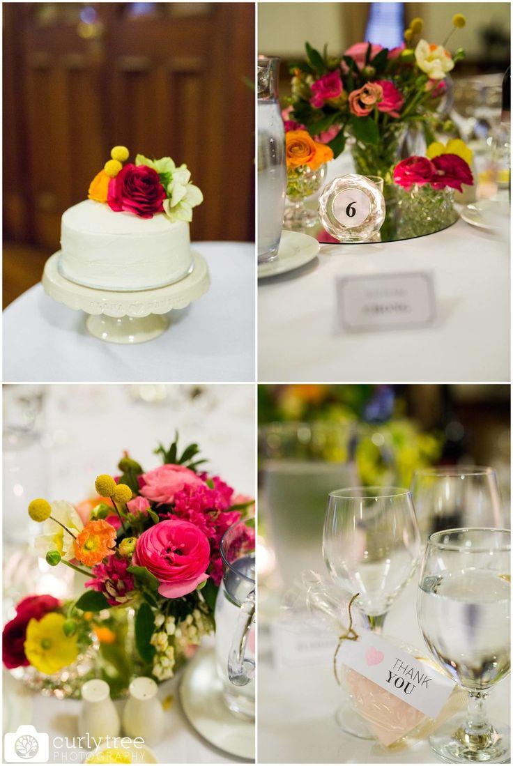 St Josephs Catholic Church Wedding - Alana + Dan - Spring floral table decorations