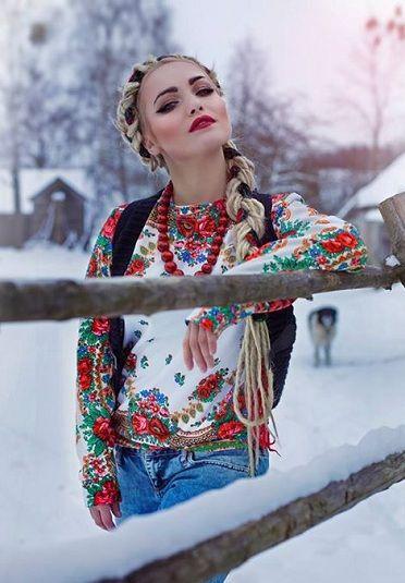 Sweat inspiration hiver russe Brodez des fleurs sur votre sweat !